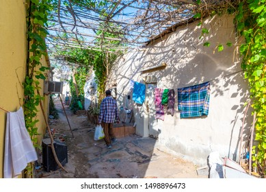 Doha, Qatar - Dec 17, 2016: Migrant workers neighborhood in the old Msheireb district. Taken in the afternoon on an early winter day, Doha, Qatar