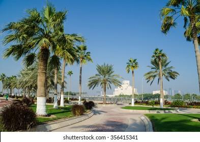 DOHA, QATAR - DECEMBER 30: The Museum of Islamic Art in Doha. December 30, 2015 in Doha, Qatar, Middle East
