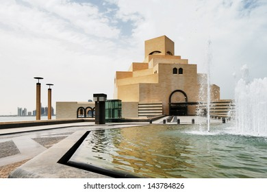 DOHA, QATAR - JUN 18: The Museum of Islamic Art on Jun 18, 2013 in Doha, Qatar. The Museum is arguably Doha's most prized architectural icon, designed by the world famous architect IM PEI