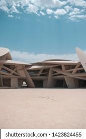 Doha , Qatar - june 2019: beautiful image of the National Museum of Qatar