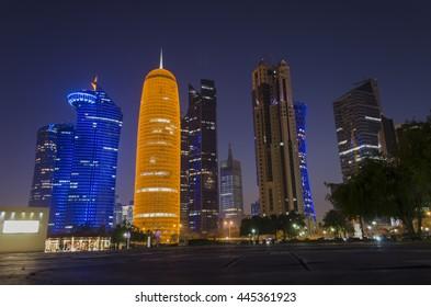DOHA, QATAR - JUNE 30: WESTBAY of Doha. June 30, 2016 in Doha, Qatar, Middle East