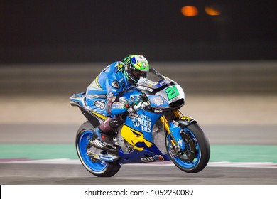 DOHA - QATAR, MARCH 17:Italian Honda rider Franco Morbidelli at 2018 MotoGP of Qatar at Losail circuit on March 17, 2018
