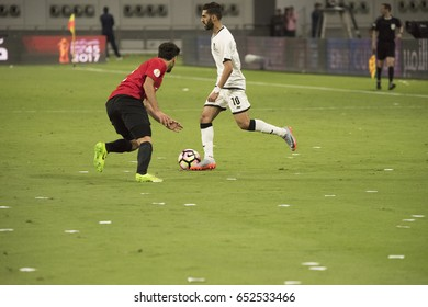 Doha, Qatar- May 19, 2017: During the Emir Cup match between Al Sadd SC and Al Rayyan SC at The Khalifa Stadium