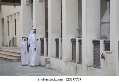 Doha, Qatar, November, 25th, 2016:  Father and son in Souq Waqif