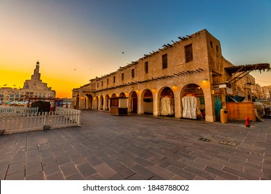 Doha, Qatar - November 6, 2020: Souq Waqif is a souq in Doha, in the state of Qatar. The souq is noted for selling traditional garments, spices, handicrafts, and souvenirs