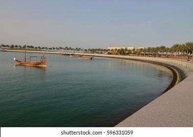Doha qatar panoramic view.
