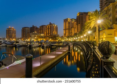 DOHA, QATAR-FEB 11: The Pearl on Feb 11, 2015 in Doha. The Pearl-Qatar is an artificial island with a residential development of luxury villas and apartment towers target at the wealthy community