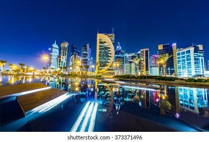 Doha Skyline night shot