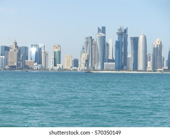 Doha / Doha skyline / picture showing the skyline of Doha, Qatar. Taken in August 2013.