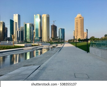Doha skyline, west bay, Doha, Qatar