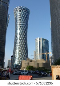Doha / Tornado Tower / Picture showing the Tornado Tower in Doha, taken in January 2013