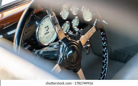 Doha,Qatar- 30 March 2020: 1936 Rolls royce phantom iii classic car