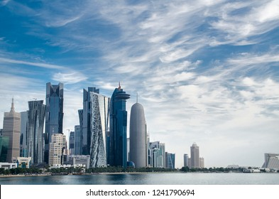 Doha's Corniche in West Bay, Doha, Qatar - Skyscrapers / Buildings
