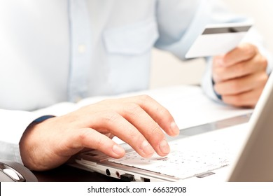 Doing shopping online using credit card