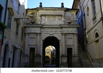 Dojona door is one of the three gates of the ancient city walls of Belluno, Italy