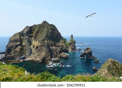 dokdo island in korea.