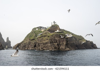 Dokdo Island South Korea. May 2016. Dokdo is an island in the east end of the territory of the Republic of Korea.