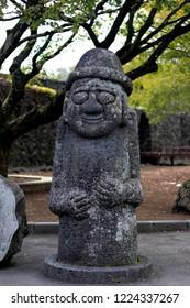 Dol Hareubang Statue in Jeju Island - South Korea