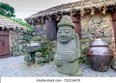 Dol hareubang - symbol of Jeju island, South Korea