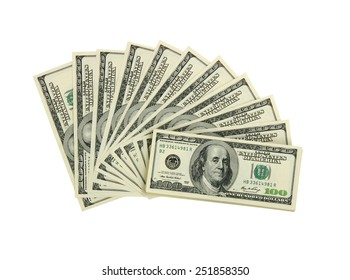 Dolar on a white background