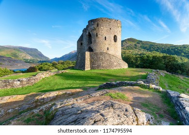 Dolbadarn Castle at Llanberis in Snowdonia National Park in Wales