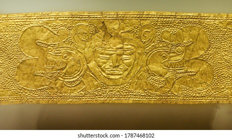Dold ornament, native, pre-columbian, museum of gold.