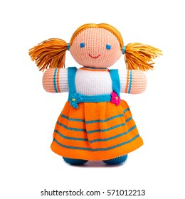 Doll isolated on white background.