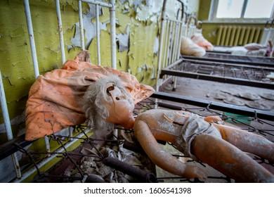 Doll in Kindergarten in Pripyat, Chernobyl
