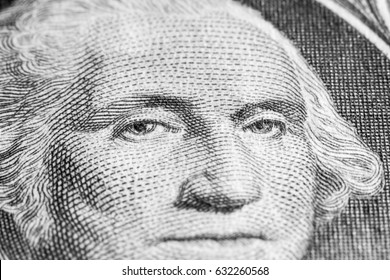 Dollar banknote, detail, face of Washington