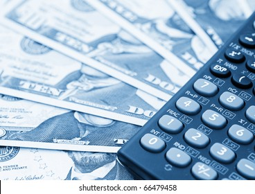 Dollar banknotes, abstract business money background