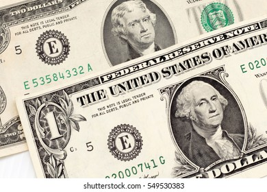 dollar banknotes united States of America background texture.