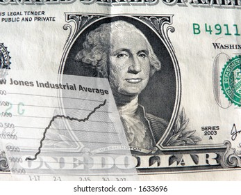dollar bill depicting economic situation