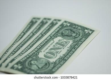 Dollar bill  one dollar  USA us currencies