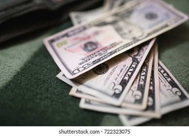 Dollar bills, money background. Dollars money set close up