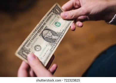 Dollar bills, money background. Dollars money set close up