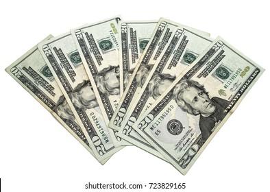 Dollar Bills money isolated on white background