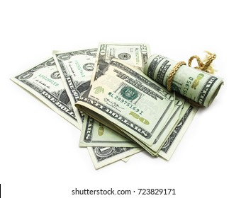 Dollar Bills money isolated on white background