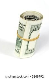 Dollar bills roll, finance concept