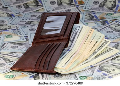 dollar bills and wallet