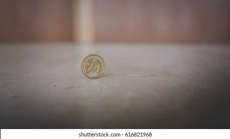 Dollar and coins