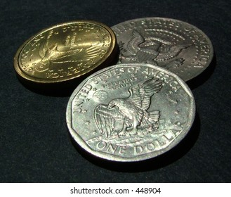 dollar coins (tails)