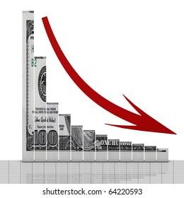 Dollar down symbol