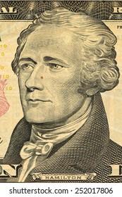 Dollar face close-up