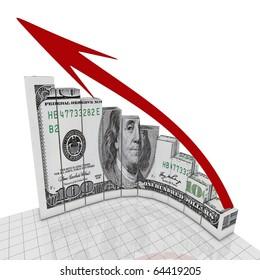Dollar graph up corner