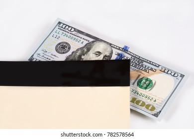 Dollar, model on dollar banknote, concept and idea of time value and money, realestate business and finance concepts. retro, green