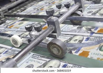 Dollar money usa finance printing process detail