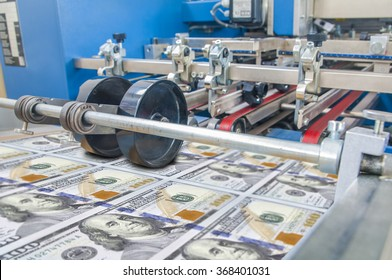 Dollar money usa finance printing process detail