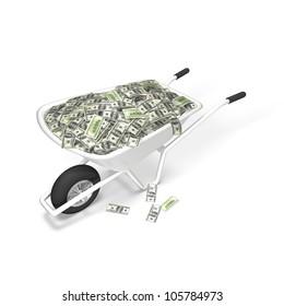 Dollar Money Wheelbarrow