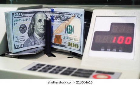 dollar note with Money counting machines