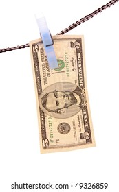 Dollar over white background